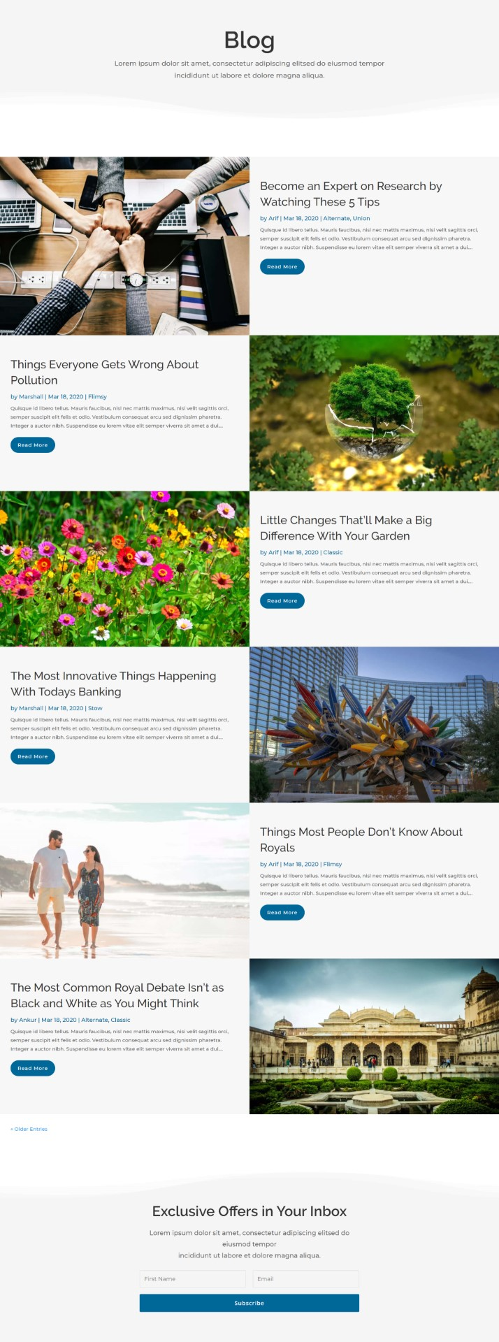 Edge Divi Blog Layout